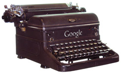 Google branded typewriter