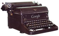 Google branded typewriter