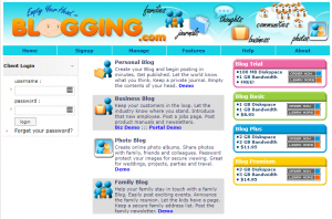 blogging.com in 2005
