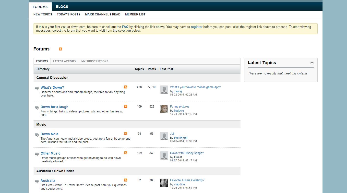 down.com forum