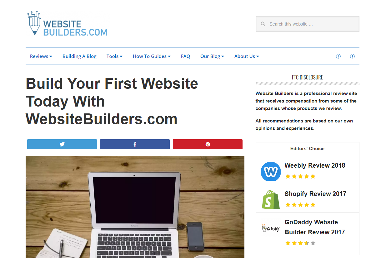 website builders current design